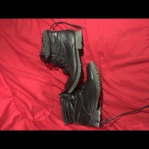 Shoes - Black Short Boots